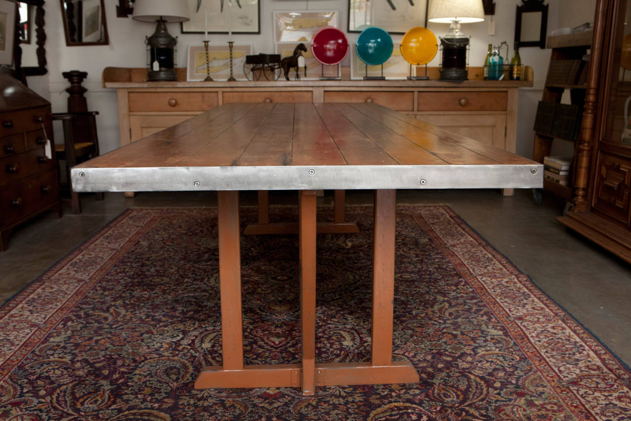 Large Dining/Work Table at 1stdibs