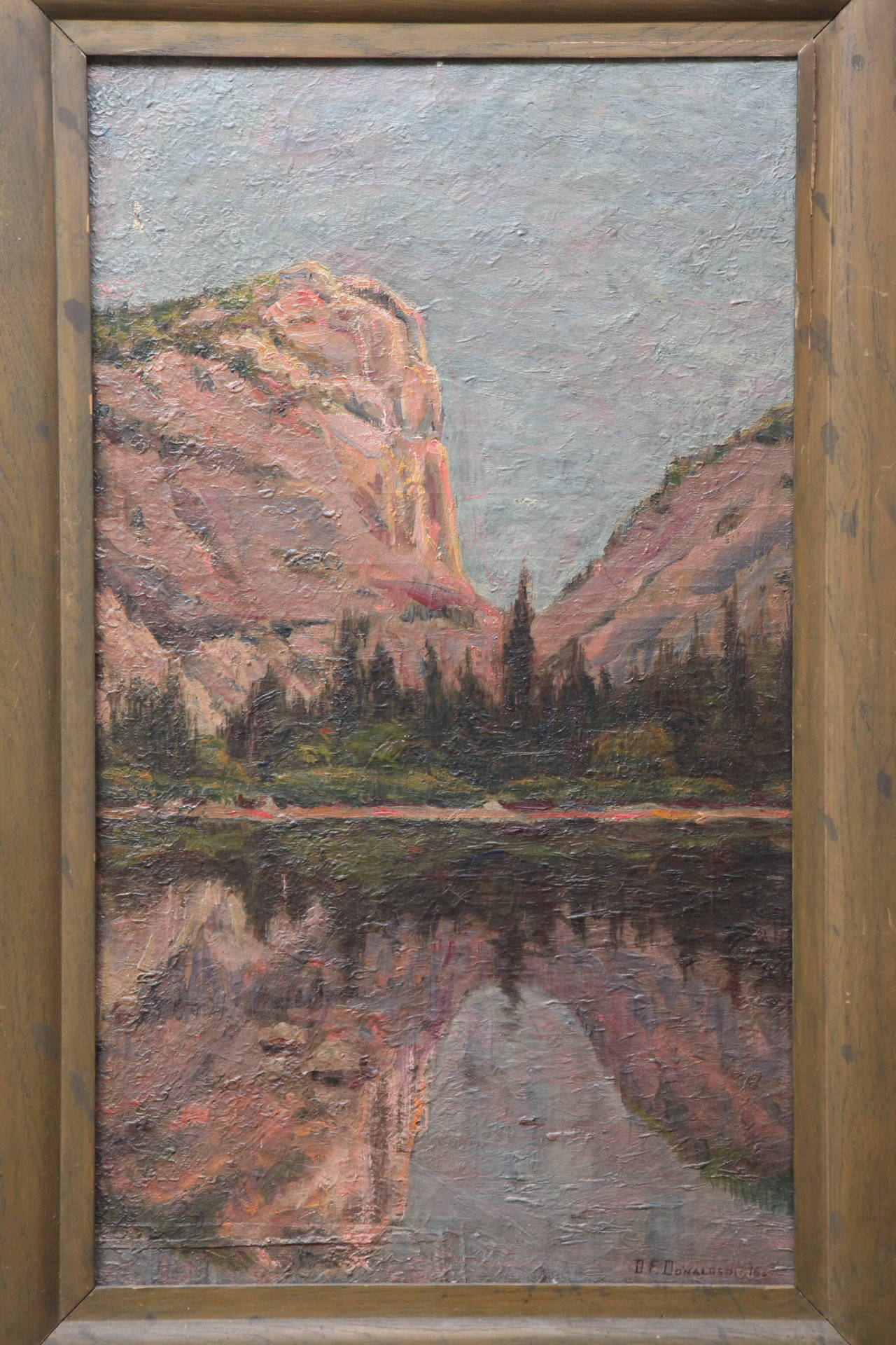 Painted Painting of Yosemite, 1896 For Sale
