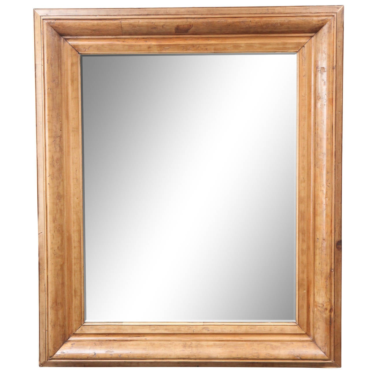 Large 19th century pine frame mirror at 1stdibs for Large framed mirrors