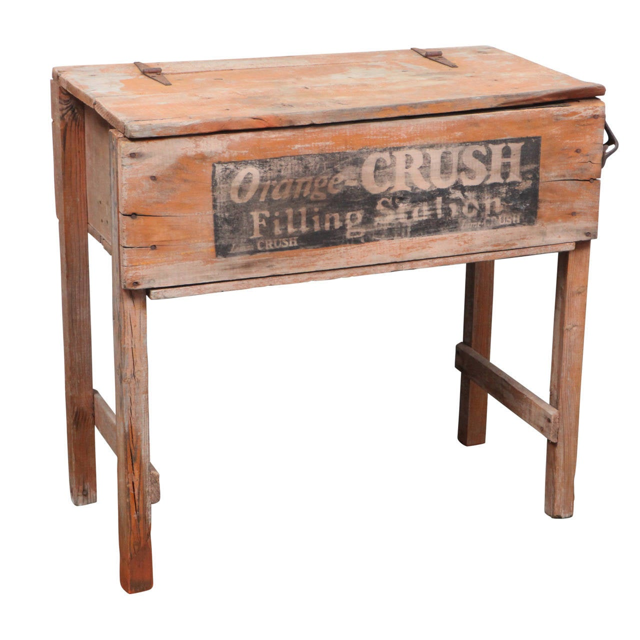 Early 20th c country store orange crush cooler at 1stdibs for Furniture and more store
