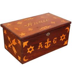 Antique Inlaid Sailor Box