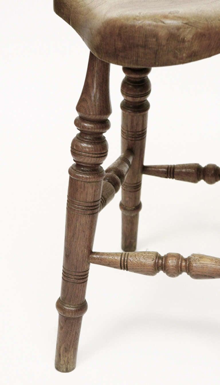 antique saddle seat stool 3