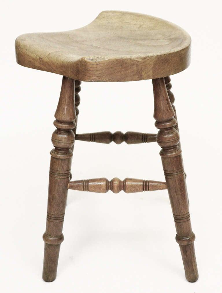 Antique Saddle Seat Stool At 1stdibs