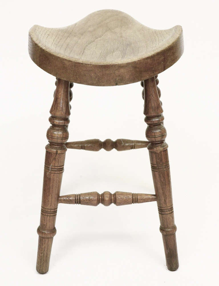 Antique Saddle Seat Stool At 1stdibs