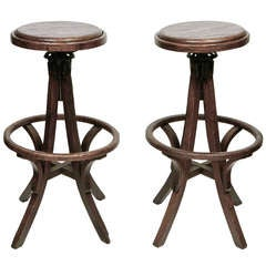 Pair of American High Stools  sc 1 st  1stDibs & Antique Wood Drafting Stool circa 1890s at 1stdibs islam-shia.org