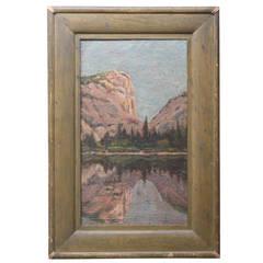Painting of Yosemite, 1896