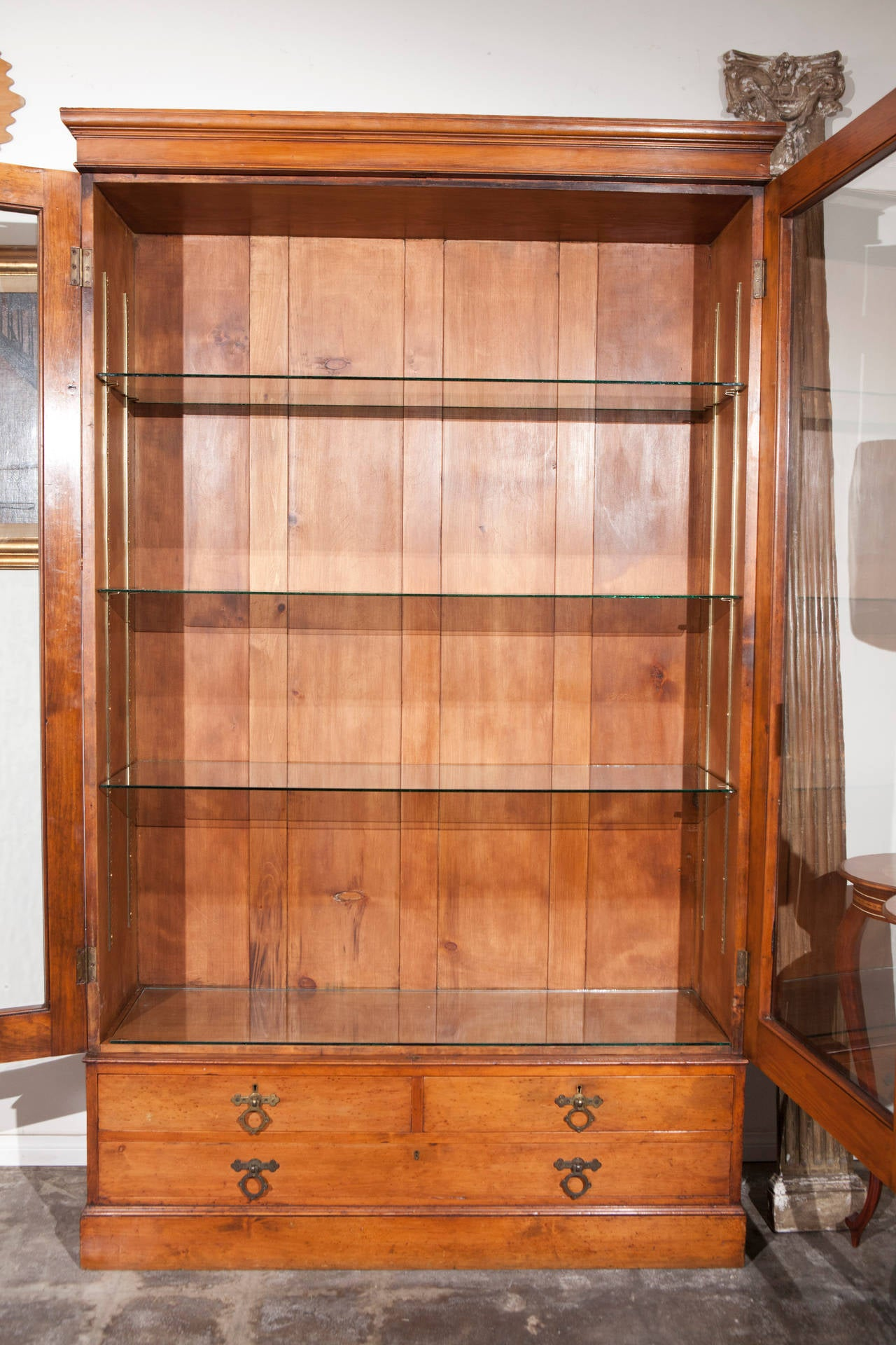 19th Century English Cabinet With Glass Doors At 1stdibs