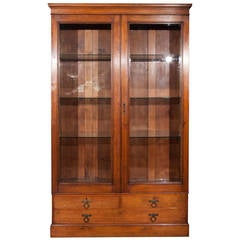 19th Century English Cabinet with Glass Doors