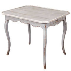 19th Century French Grey Painted Table