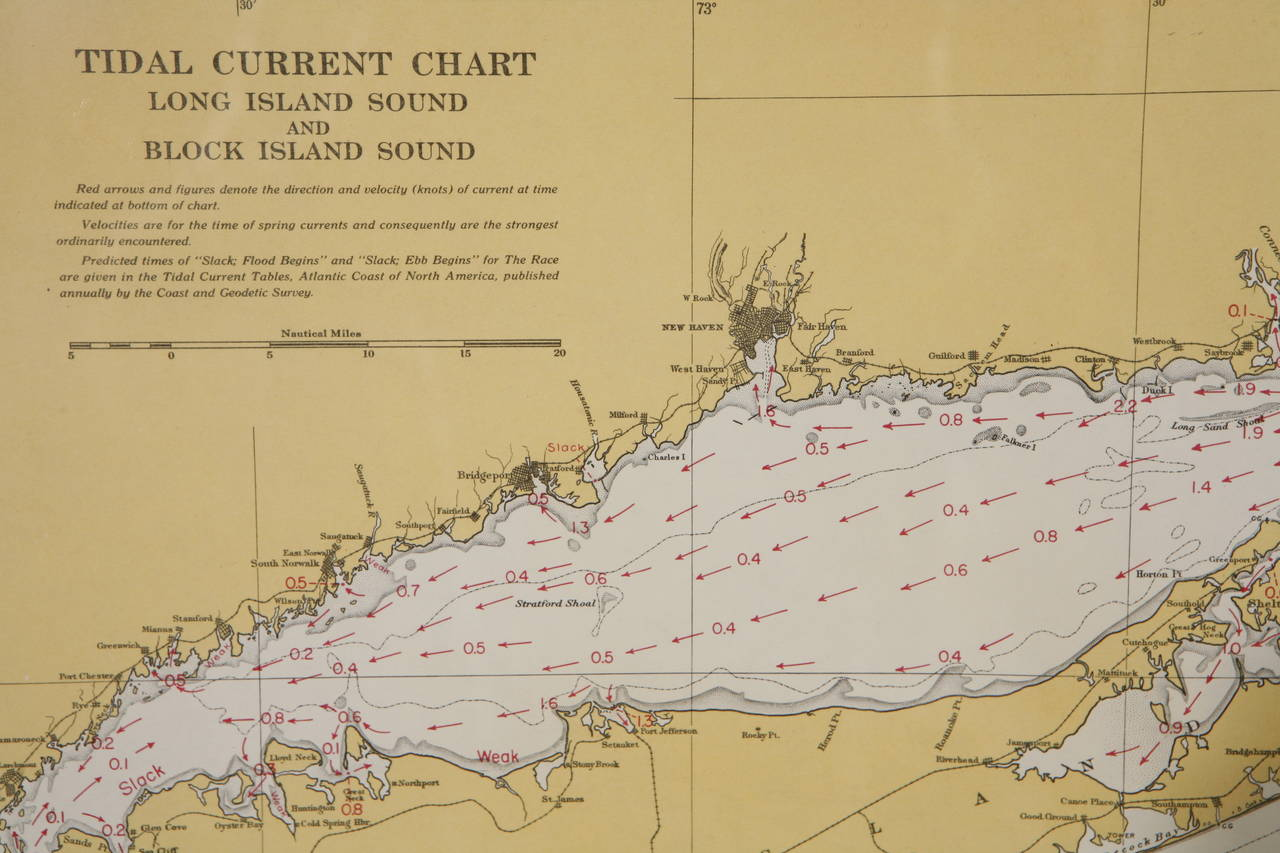 1960s Set Of Six Long Island Tidal Current Charts Or Maps