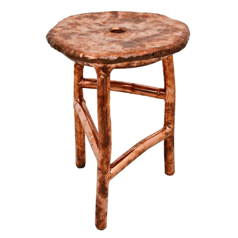 Pouf Design Egg Pouf Jacobsen : Max lamb copper stool at stdibs