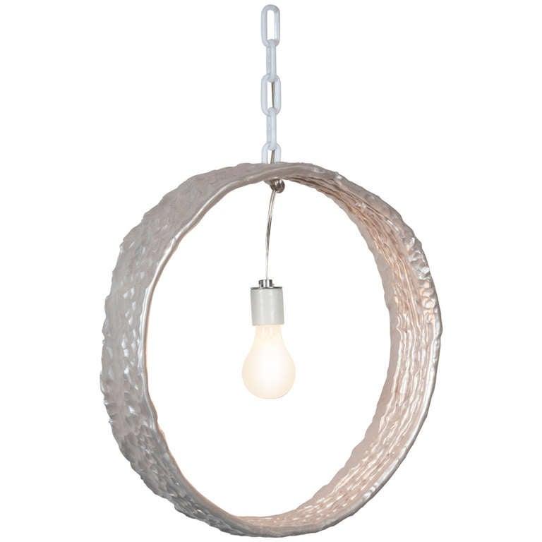 Katie Stout X Sean Gerstley Metallic Circle Pendant Lamp