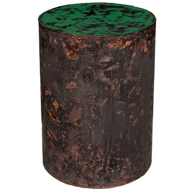 Copper Skin Series Green Cylinder At 1stdibs