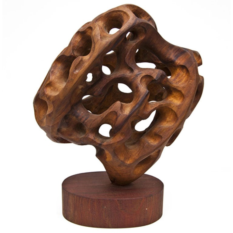 Carved wooden sculpture by mario dal fabbro at stdibs
