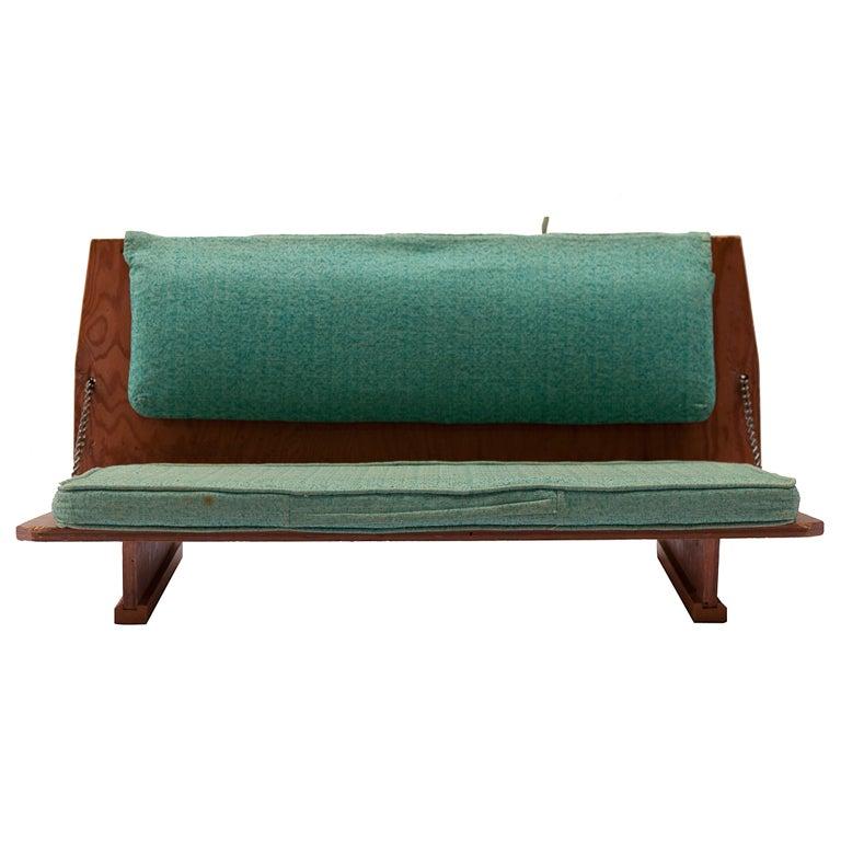 Frank Lloyd Wright Folding Seat Bench At 1stdibs