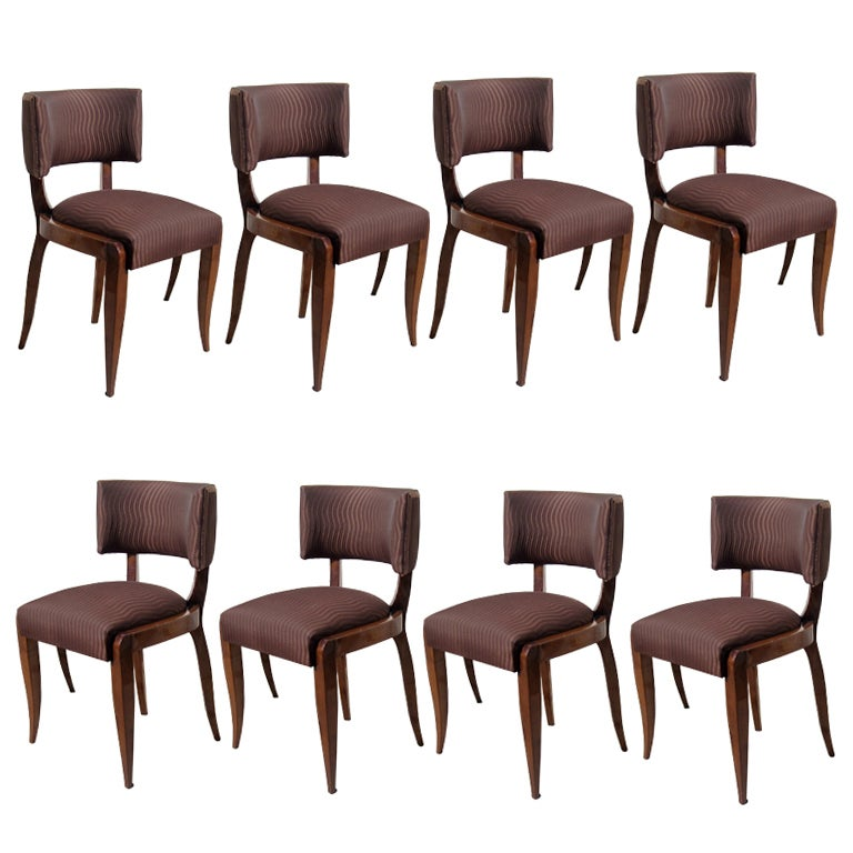 French Art Deco Dining Chairs Suite Of 8 At 1stdibs