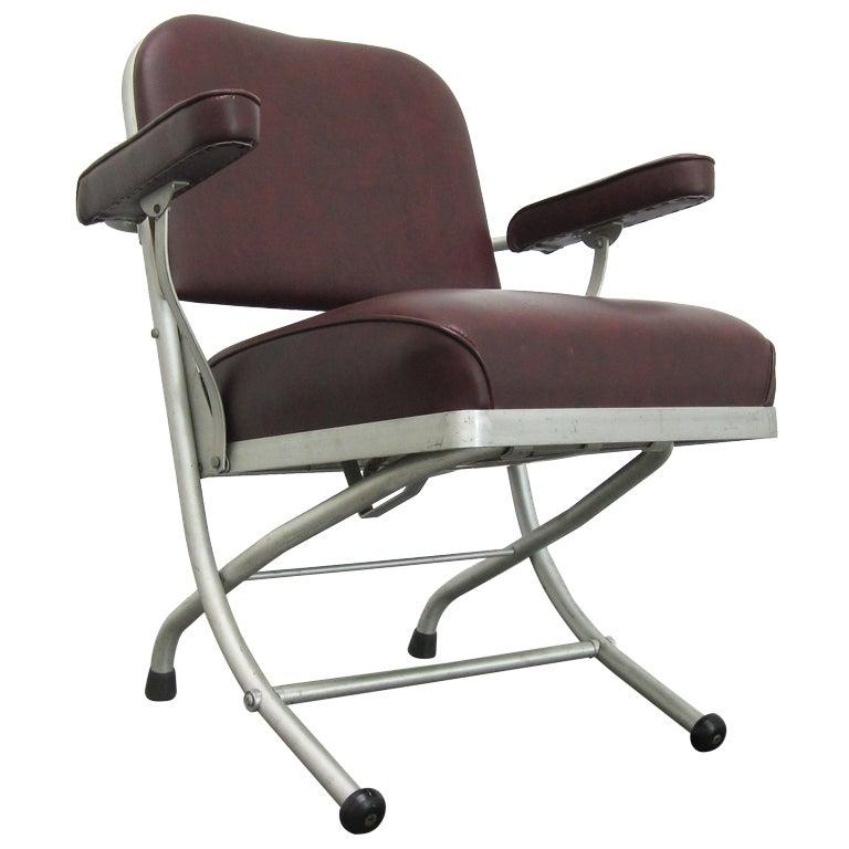 Machine Age Aluminum Folding Chair by Warren McArthur at 1stdibs