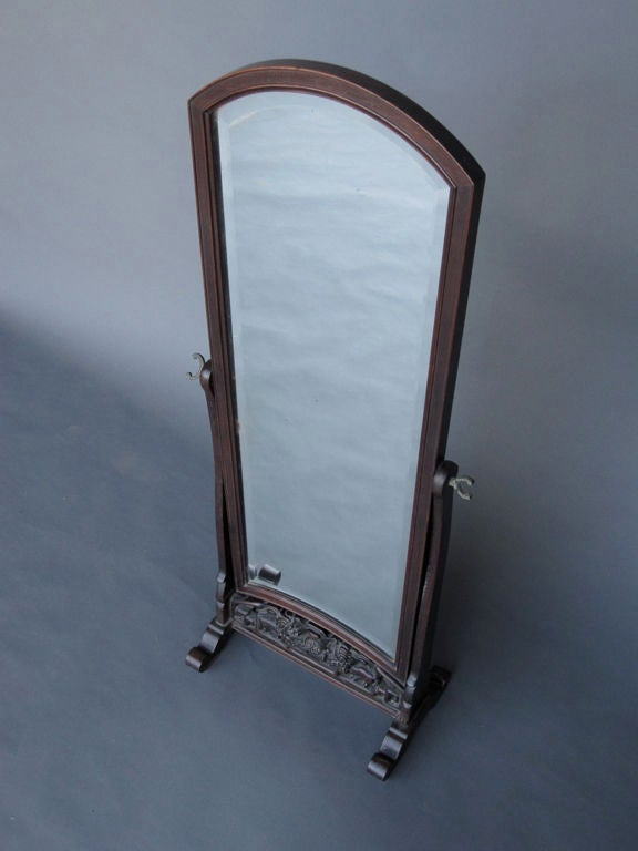Hand carved beveled glass table top mirror at stdibs