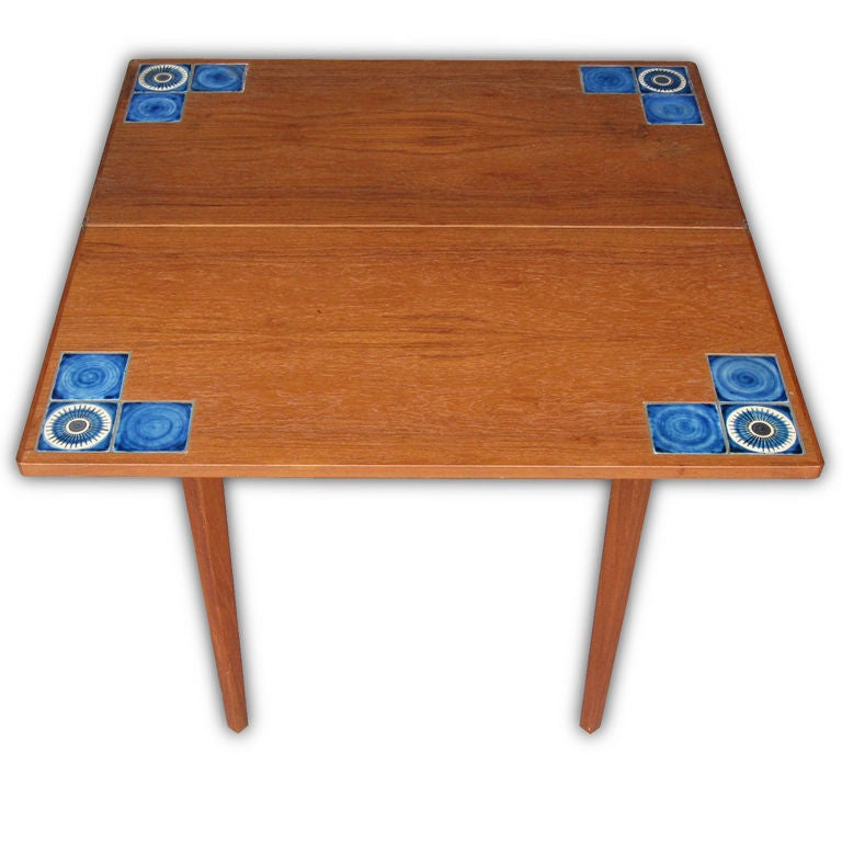 flip top console dining tile table at 1stdibs