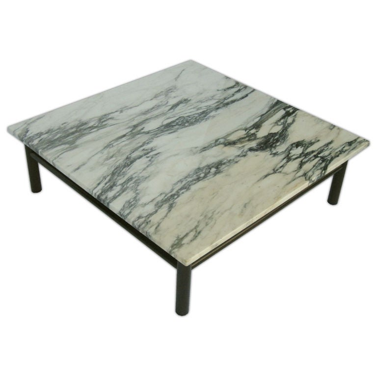 Marque Genuine Marble Top Coffee Table: Robsjohn Gibbings Marble Top Coffee Table At 1stdibs