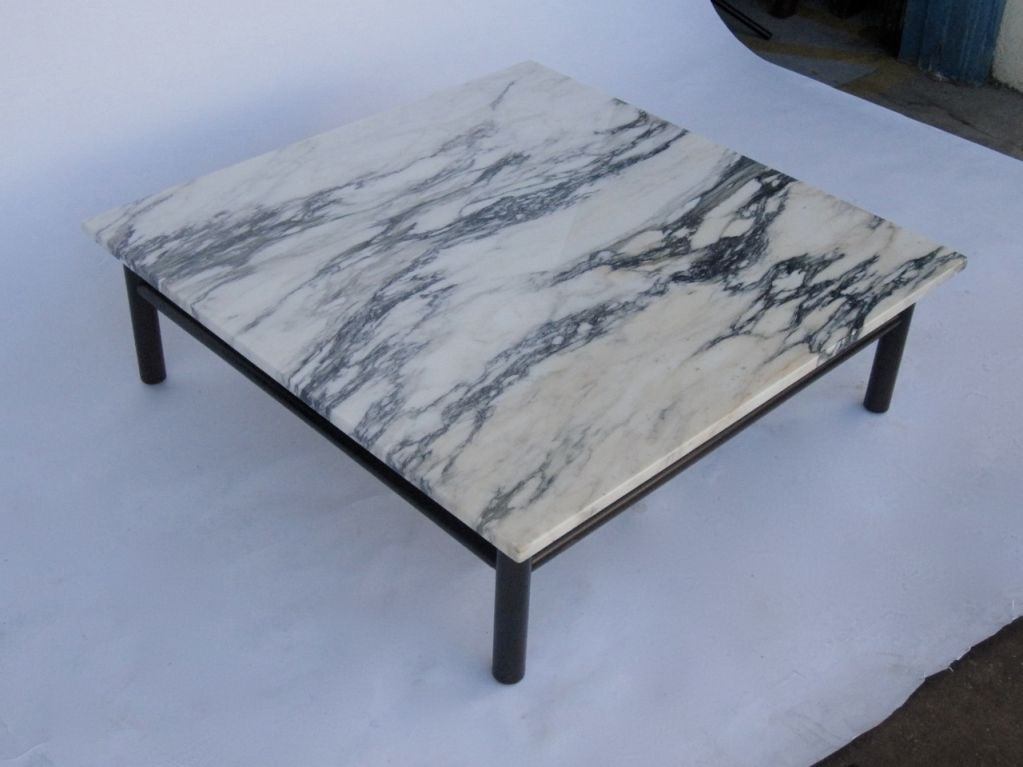 Robsjohn gibbings marble top coffee table at 1stdibs Coffee tables with marble tops