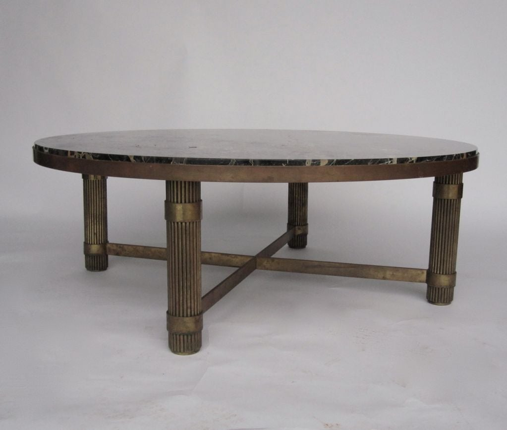 Chic Marble Top Art Deco Coffee Table At 1stdibs
