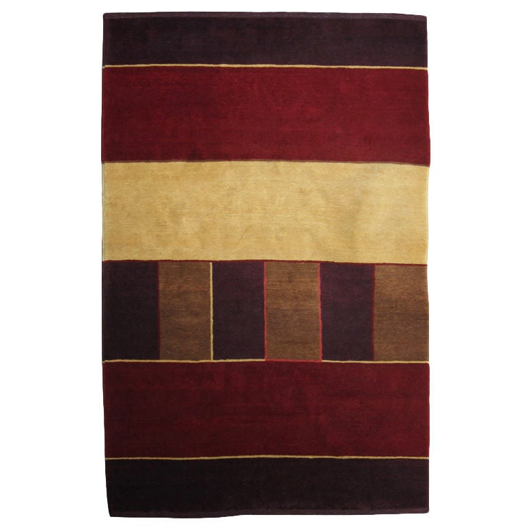 Christopher farr geometric area rug at 1stdibs for Geometric print area rugs
