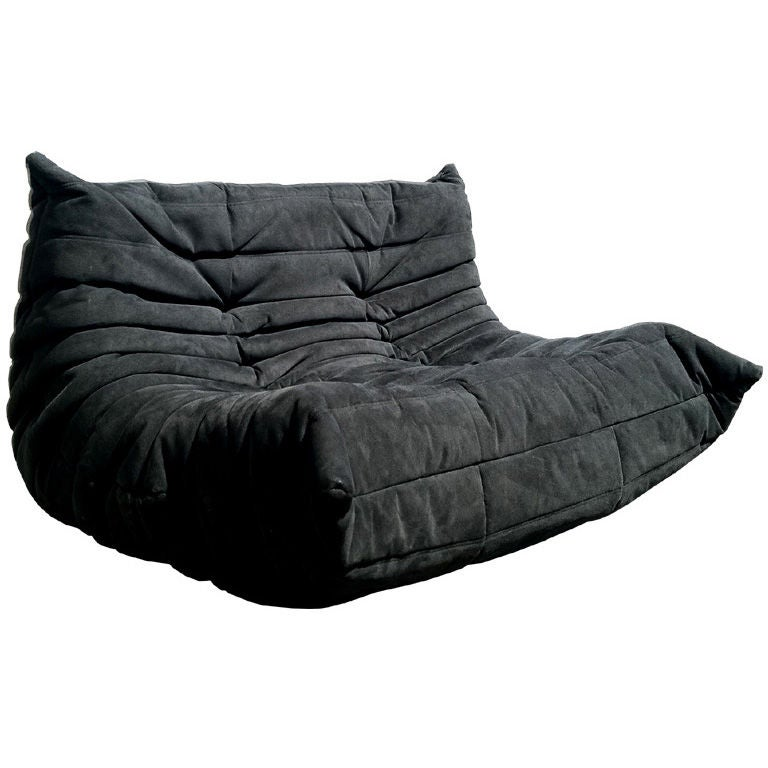 Ligne roset togo sofa in black fabric at 1stdibs for Housse togo ligne roset
