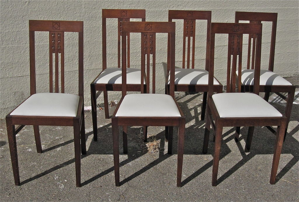 German secessionist dining chairs set of 6 at 1stdibs for Dining room in german
