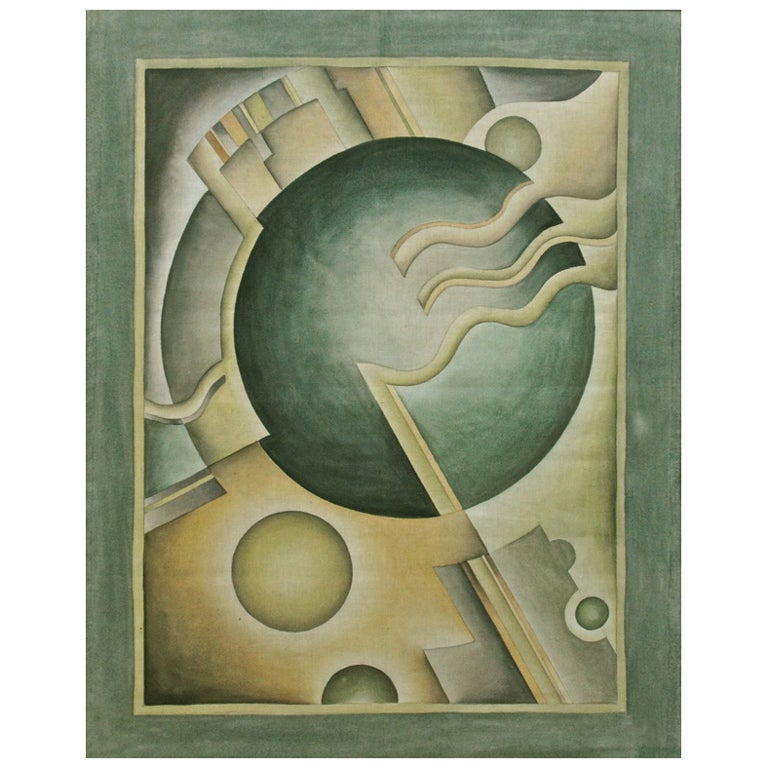 Cosmic Art Deco Modernist Machine Age Painting 1930s At