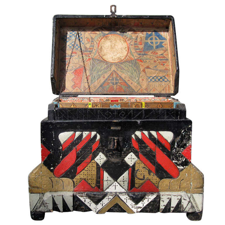 vintage magic occult chest at 1stdibs