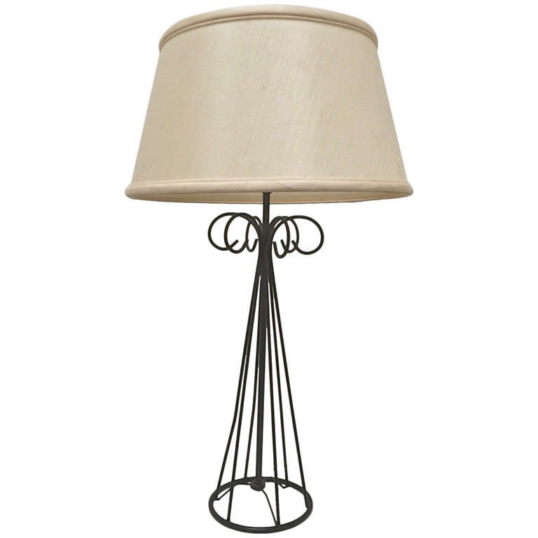 tony paul wrought iron table lamp for verplex at 1stdibs. Black Bedroom Furniture Sets. Home Design Ideas