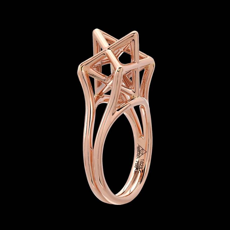 merkaba star rose gold ring for sale at 1stdibs