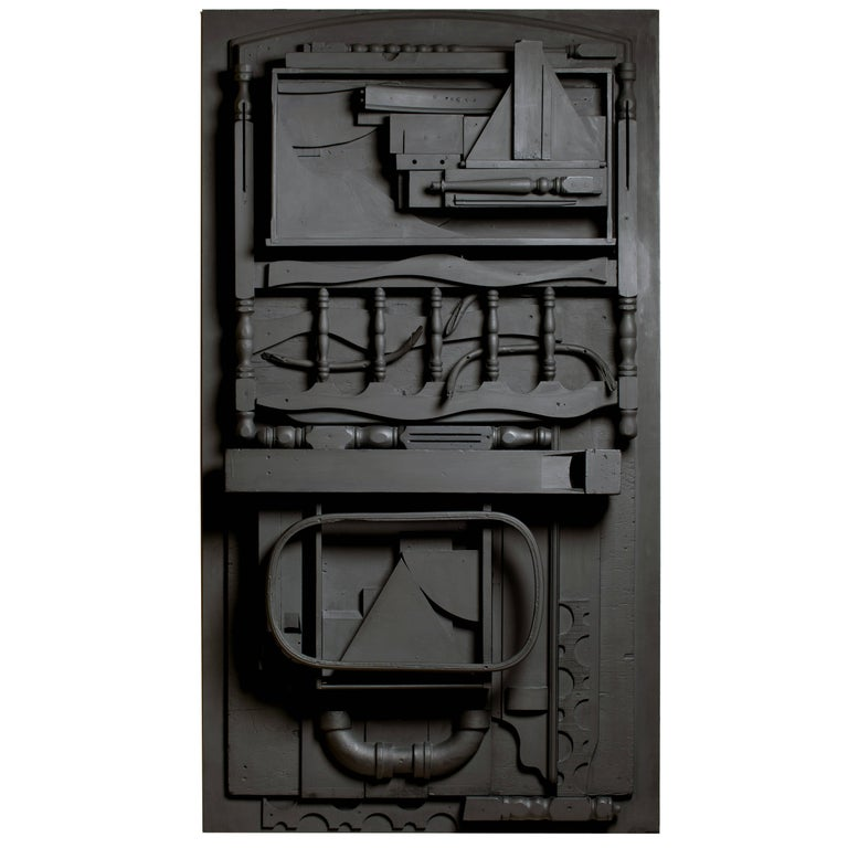 Louise Nevelson's room-sized wood sculptures have been hailed as emblematic of many different movements, including Abstract Expressionism, Cubism, and Surrealism. Monochromatic and usually black, with isolated departures into white and gold,