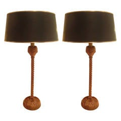 Pair Of Musical Instrument Lamps By Frederick Weinberg For