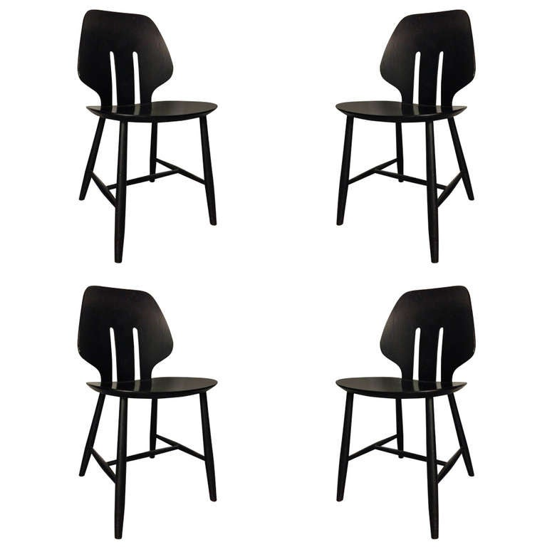 Set of Four Chairs by Ejvind A. Johansson for FDB Mobler For Sale