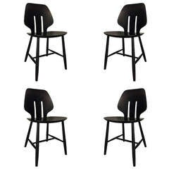 Set of Four Chairs by Ejvind A. Johansson for FDB Mobler
