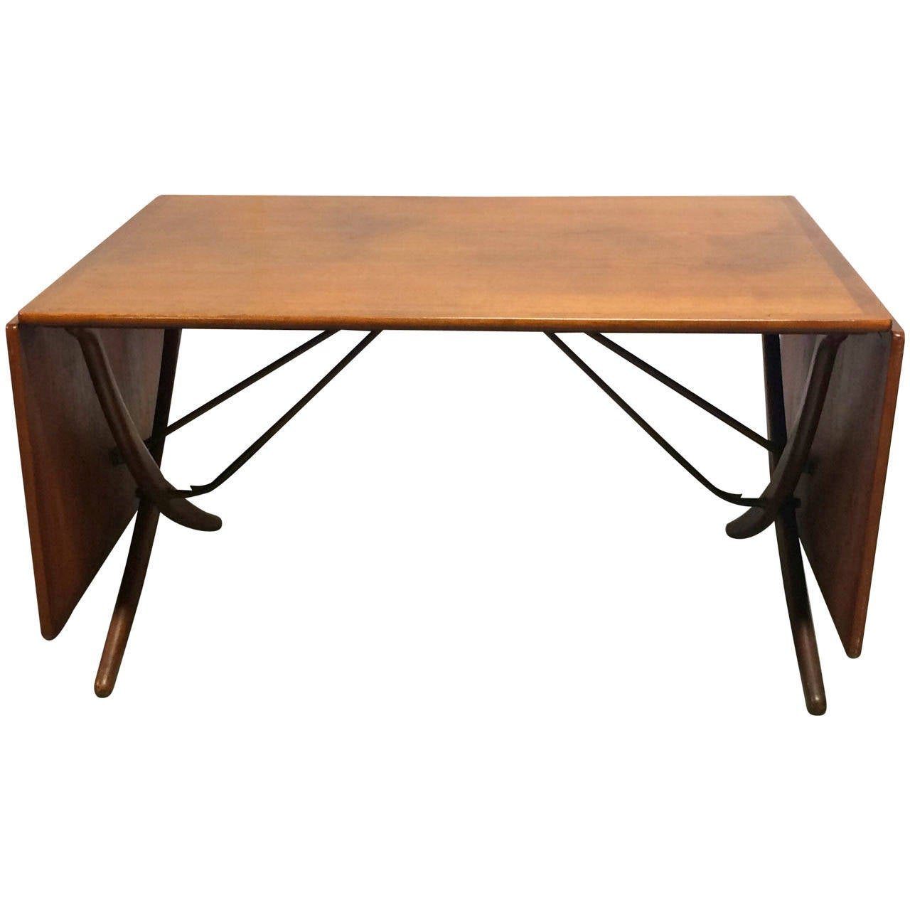 Hans wegner teak drop leaf dining table for sale at 1stdibs for Dining room table replacement leaf