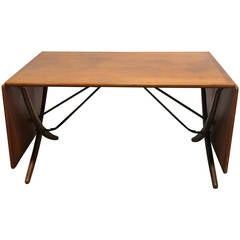 Hans Wegner Teak Drop-Leaf Dining Table