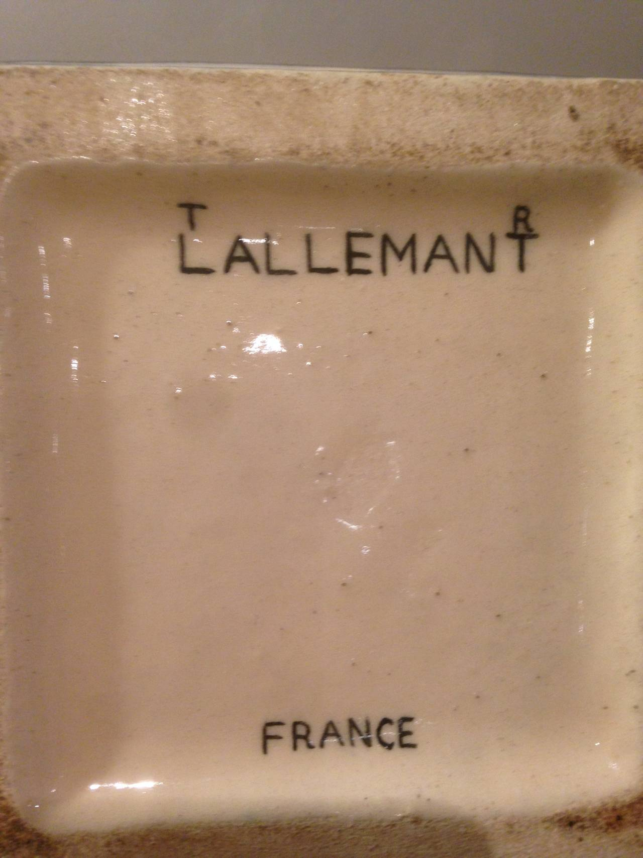Pair of Robert Lallemant Ceramic Lamps For Sale 1