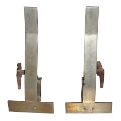 Pair of Steel Andirons