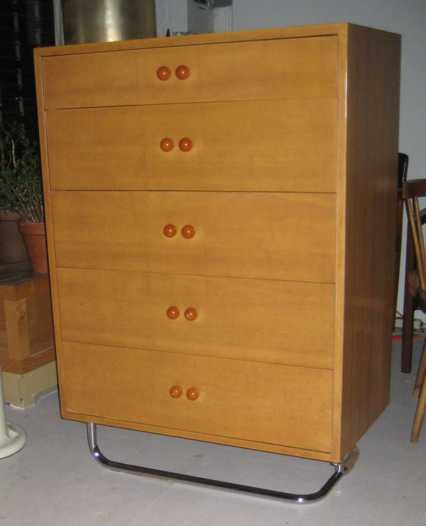 American Rare Gilbert Rohde Art Deco Dresser For Sale