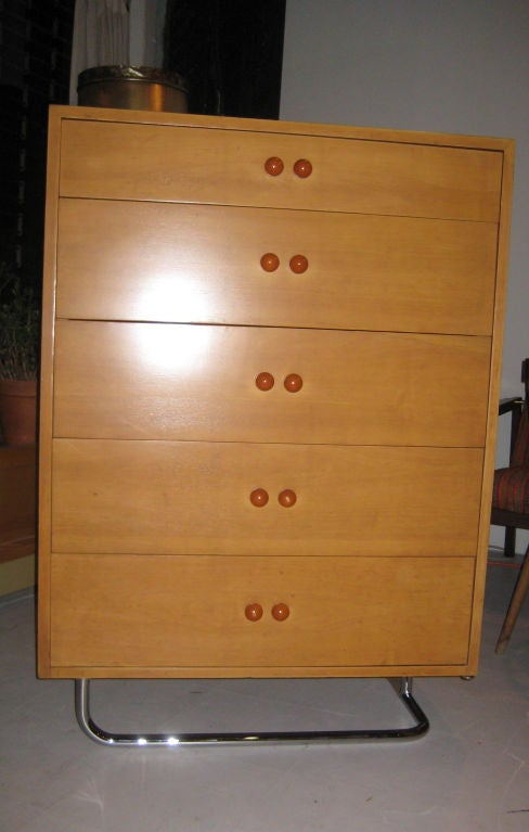 Rare Gilbert Rohde Art Deco Dresser In Good Condition For Sale In Hudson, NY