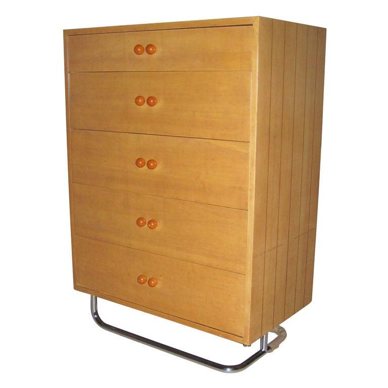 Rare Gilbert Rohde Art Deco Dresser For Sale