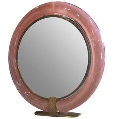 Carlo Scarpa Vanity Mirror for Venini Signed