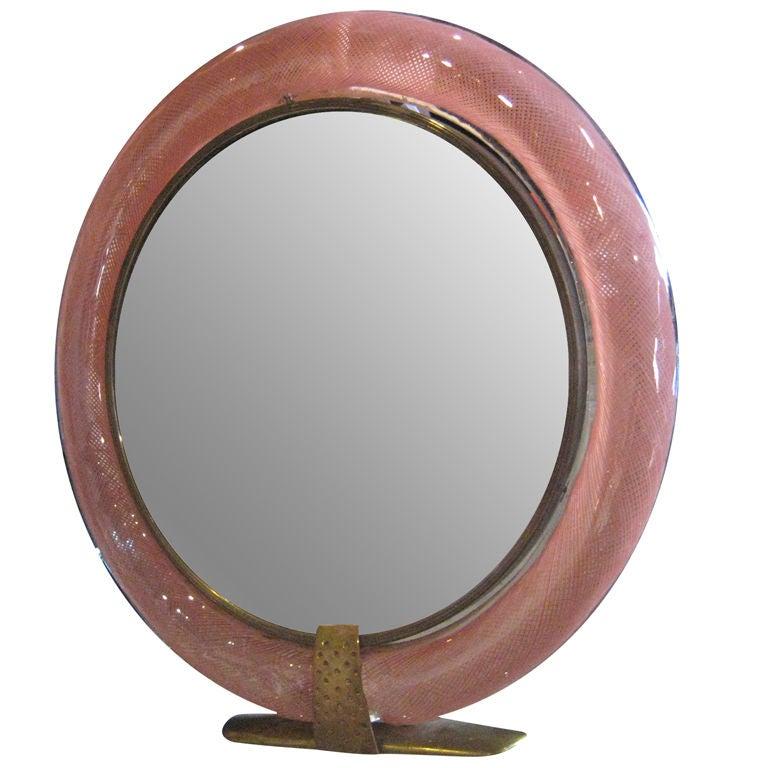 Carlo Scarpa Vanity Mirror for Venini Signed For Sale