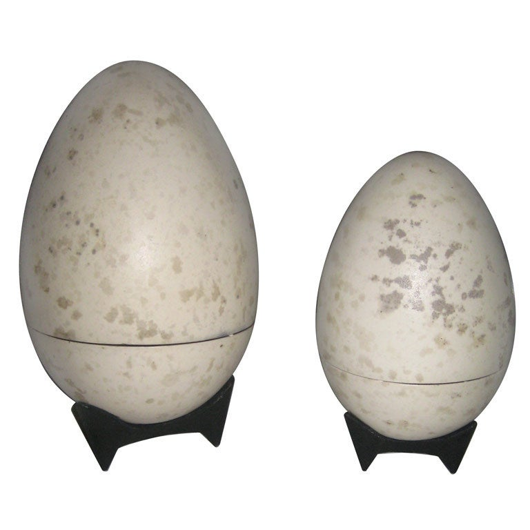 Giant Hans Hedberg Ceramic Egg Boxes For Sale