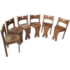 Five Oak Arts and Crafts Children's Stool/Chairs