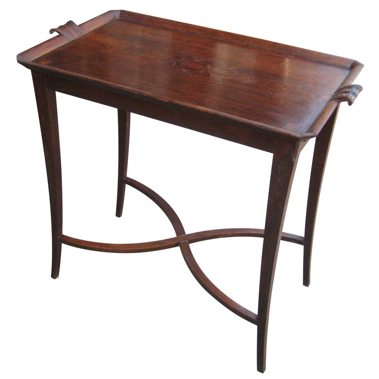 Carl Bergsten Swedish Grace Period Itarsia Occassional Table For Sale