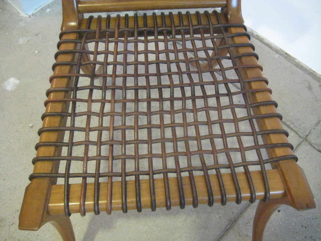 Early Robsjohn-Gibbings Klismos Chair for Saridis In Excellent Condition For Sale In Hudson, NY
